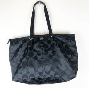 Authentic Coach Travel Bag Folding Black